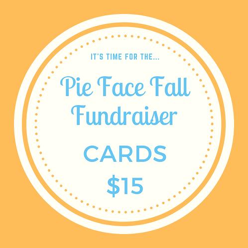 Pie Face Fundraiser Cards