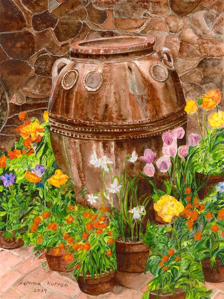 Jar with Flowers