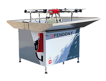 Refill Station - agricultural UAV maintenance device for the refilling of treatment liquids