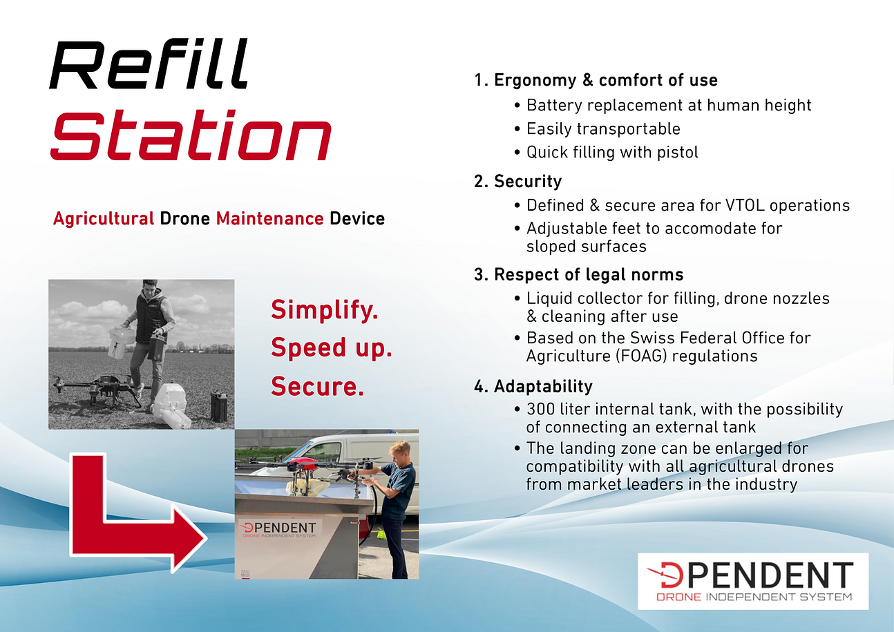 Refill Station - Agricultural drone maintenance device