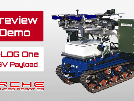 """1st demo of our mobile station, """"D-LOG One UGV Payload"""", at ARCHE 2021"""