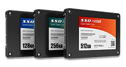 RBD Electronics carries SSD, solid state drives of different sizes