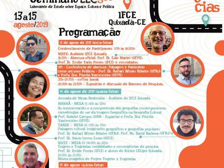 VI Seminário LECgeo, IFCE, Quixadá-CE 13 a 15 de agosto de 2019