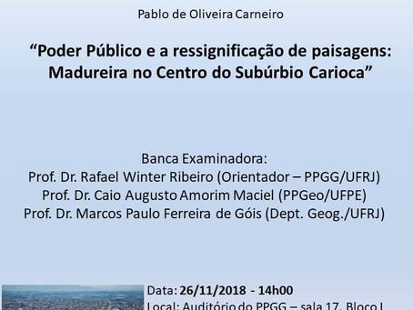 Poder Público e ressignificação de paisagens: Madureira no Centro do Subúrbio Carioca