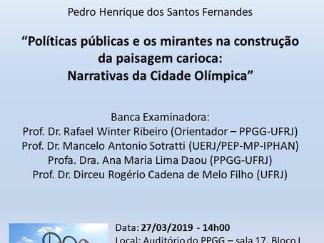 Políticas públicas e os mirantes na construção da paisagem carioca: Narrativas da Cidade Olímpica