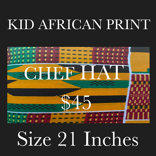 African Printed Chef Hat