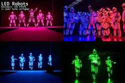 LED Robots Show Dance Industry MR Event.