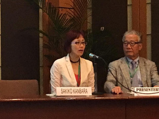 Dr. Kanbara presented about disaster and nursing issue and the construction of EpiNurse model