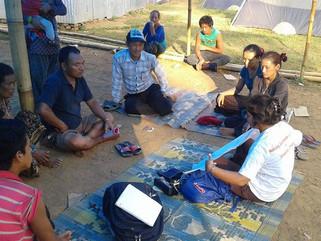 Health Education by EpiNurse Sharada Barakoti in Lapabasti, Dhading