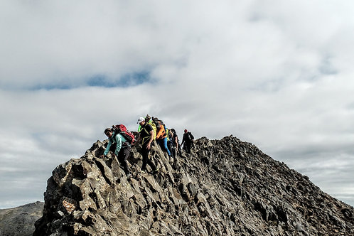 Crib Goch Mountain Scramble - Pen Y Pass Nr LLanberis Snowdonia North Wales