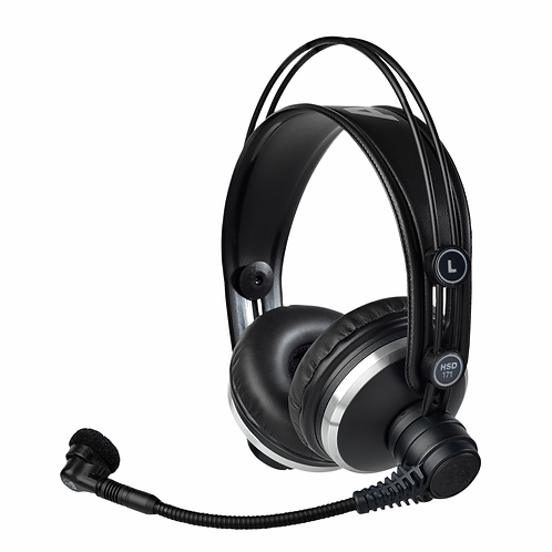 AKG Prof. closed-back headsets derived from K 171 headphones,dynamic mic