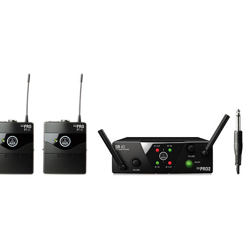 AKG WMS40 Mini2 Instrumental Set BD US45A/C Wireless Microphone System