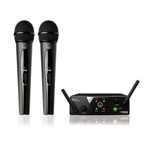 AKG Pro Audio WMS40 Mini2 Vocal Set BD US45A/C Wireless Microphone System