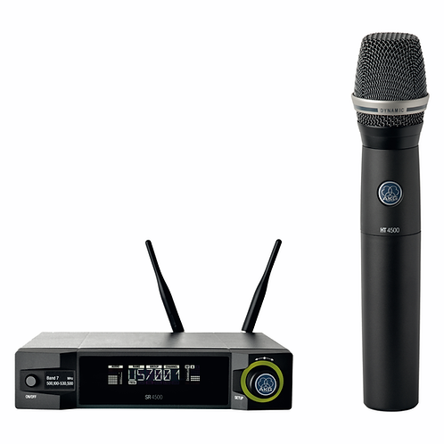 AKG Professional wireless system including SR4500, HT4500, D7 WL1, SA64