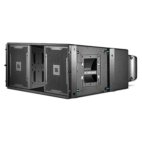 JBL mid-size powered three-way, high directivity line array elements