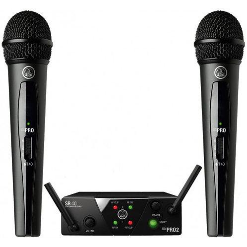 AKG dual wireless vocal /set