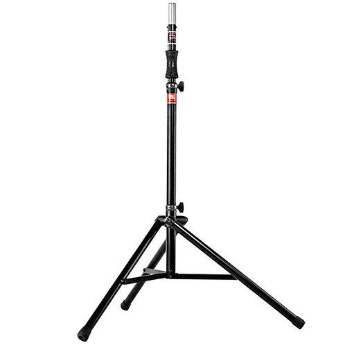 "JBL speaker tripod featuring gass assist adjustment from 3' 8"" to 6' 7"""