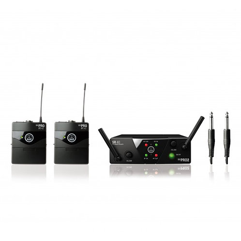 AKG WMS40 Mini2 Instrumental Set BD US45A/C  Wireless Microphone System