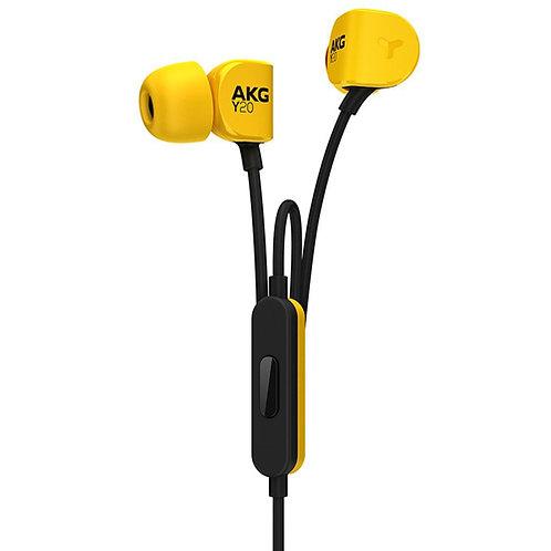 AKG Lightweight In-Ear Headphone , Yellow (Y20UYEL)