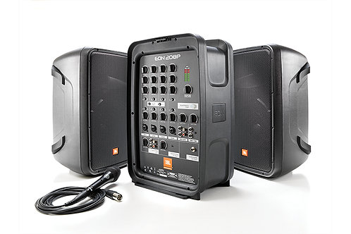 """JBL EON208P Packaged 8"""" 2-Way PA with Powered 8-Channel Mixer and Bluetooth��"""