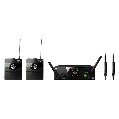 AKG Plug&Play wireless microphone system, including SR40 mini2 dual channel