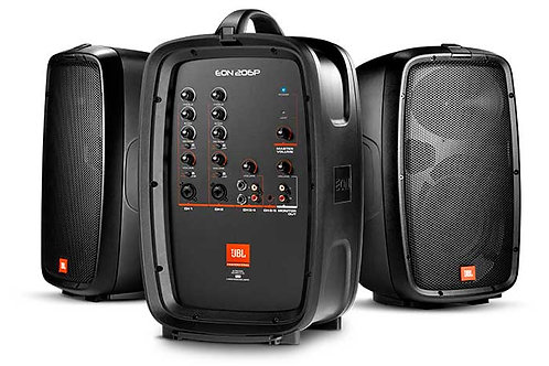 JBL EON206P Portable 6.5_�� Two-Way system with detachable powered mixer
