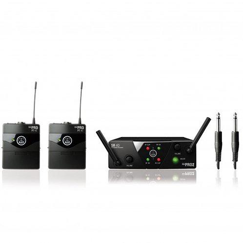 AKG WMS40 Mini2 Instrumental Set BD ISM2/3 Wireless Microphone System