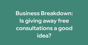 Is giving away free consultations a good idea?
