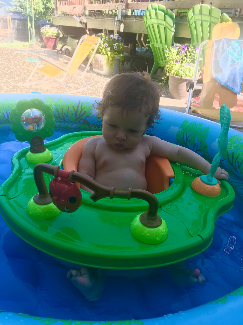 First time in a pool @cherryhillliving