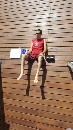 Sitting on the ledge at CherryHill