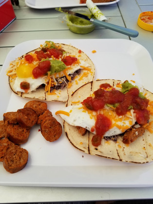 """Heurvos Rancheros to start a hot day"""