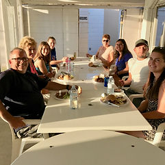 Annual RV Dinner in the patio at CherryHill Livng