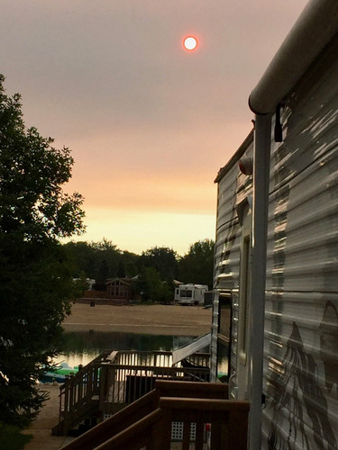 """Standing on our deck watching as the """"morning unfolds at CherryHill"""""""