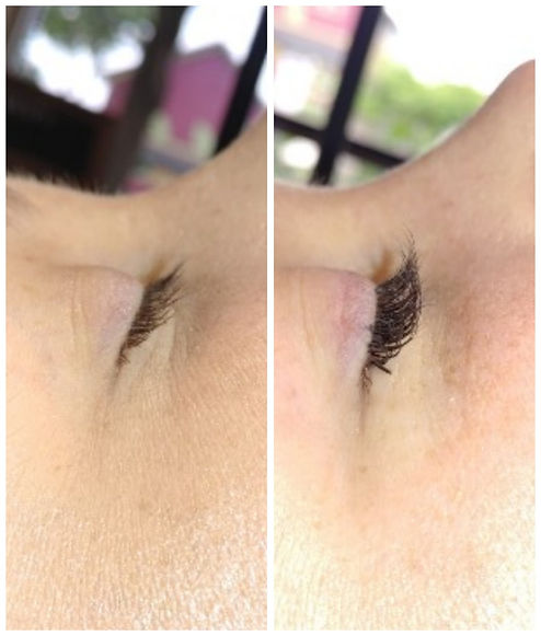 before and after of lash extensions