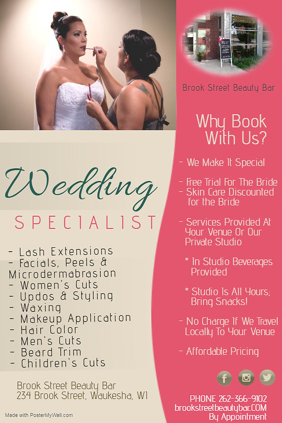 Brook Street Beauty Bar - Wedding Specia