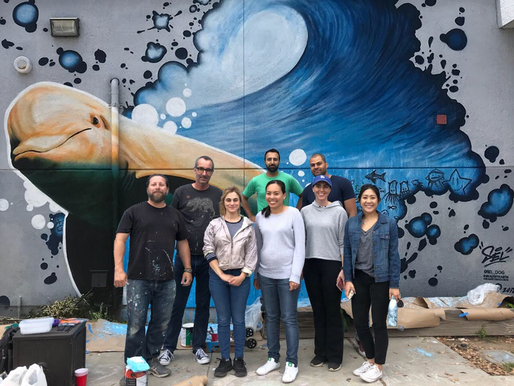 Belkin helps paint Santa Monica Alternative School House