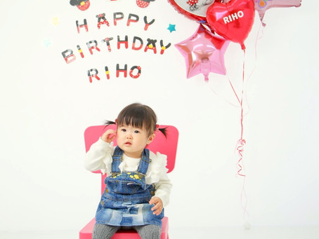 リホちゃん*1歳のお誕生日*
