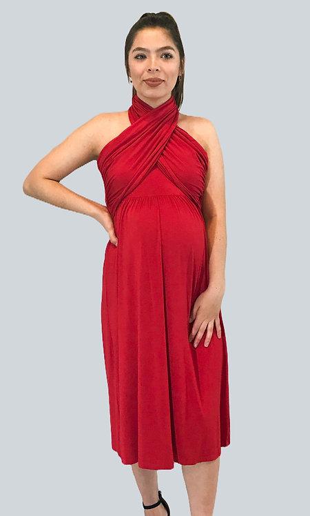 Maternity Nursing Red Dress