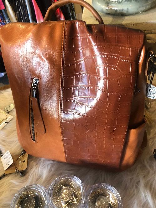 Vegan Leather Back Pack With Adjustable Straps