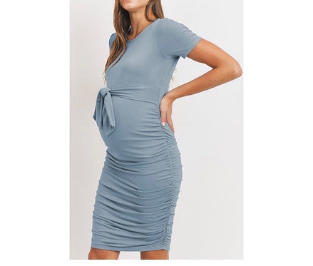 Maternity Blue Fitted Dress