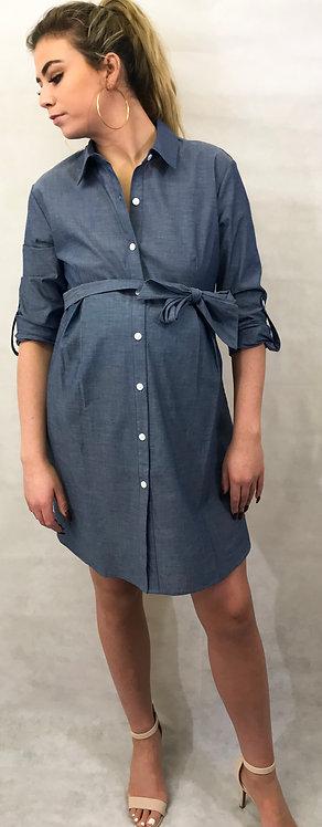 Maternity & Nursing Seraphine Chambray Dress