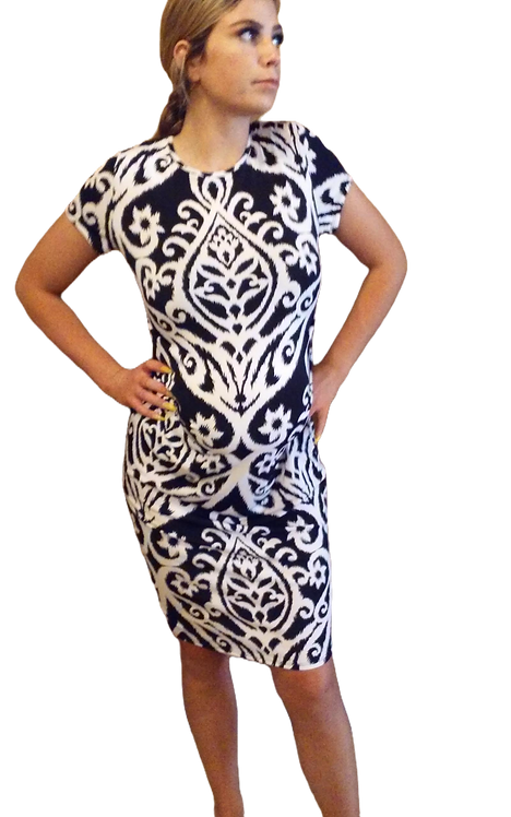 Maternity Black And White Bodycon Dress