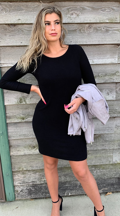 Maternity Black Knit Dress