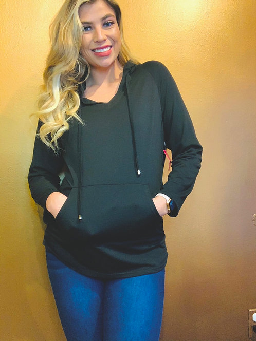 Maternity Sweatshirt in Black