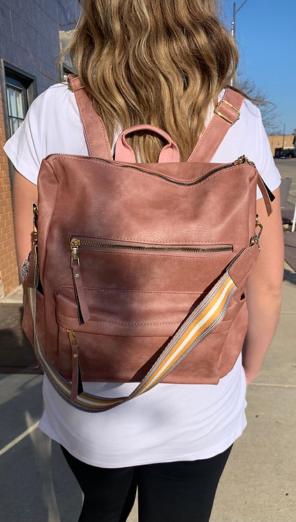 Back Pack Purse With Removable Strap