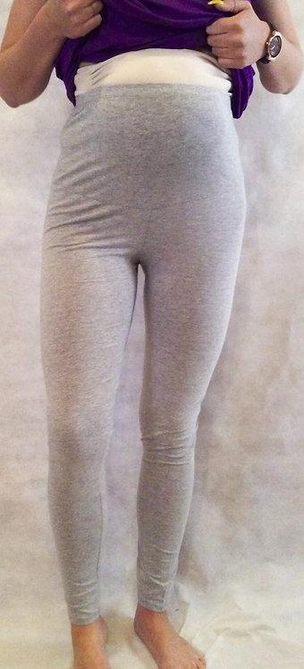 Grey Cotton Maternity Leggings