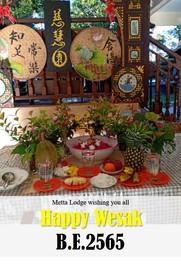 Metta Lodge wishing you all Happy Wesak B.E. 2565