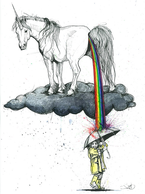 The Only Thing Allowed To Piss All Over Your Dreams is A Fucking Unicorn | Print