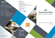 Dépliant - BTS Communication - 2016