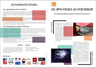 Plaquette - Arts visuels